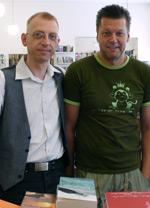 Veit Georg Schmidt und Jürgen Ostler von der Buchhandlung Löwenherz in Wien