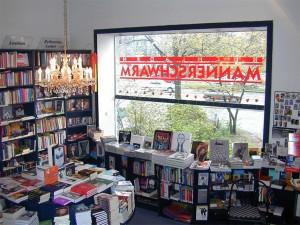 Buchhandlung Männerschwarm in Hamburg, damals am Neuen Pferdemark
