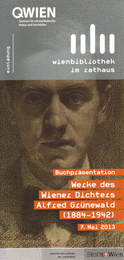 Lesung und Buchpräsentation zu Alfred Grünewald in der Wienbibliothek im Rathaus