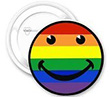 Button: Großer Regenbogen-Smiley Button