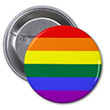 Button: Kleiner runder Regenbogen-Button