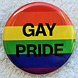 Button: Regenbogen-Button GAY PRIDE