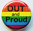 Button: Kleiner Regenbogen-Button OUT and Proud