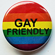 Button: Kleiner Regenbogen-Button GAY FRIENDLY